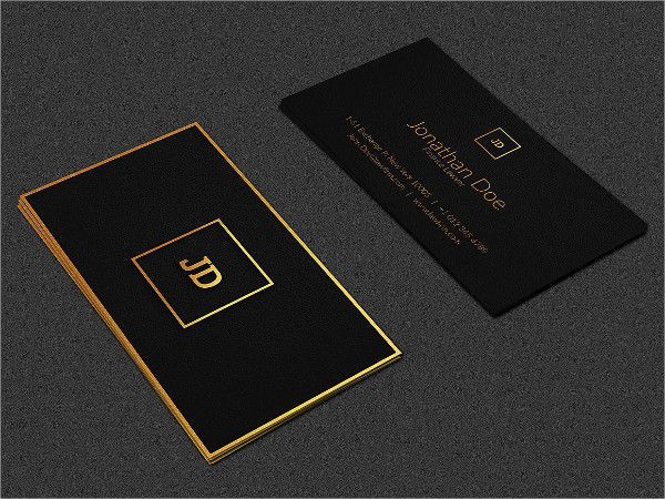 Luxury Business Card in Leather Style