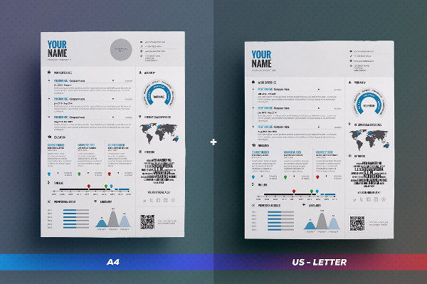 MS Word infographic Resume