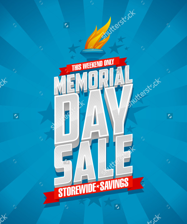 Memorial Day Sale Flyer Template