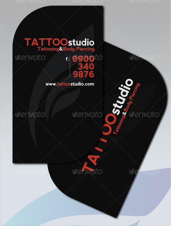 Modern Design Tattoo Studio Business Card