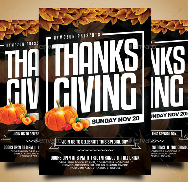 Modern Thanksgiving Lunch Flyer