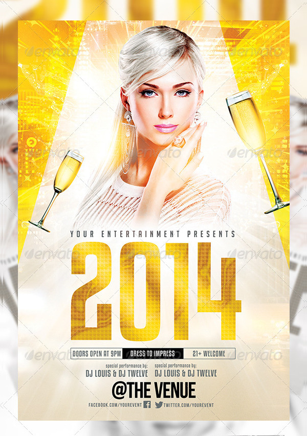 Perfect White Affair Party Flyer