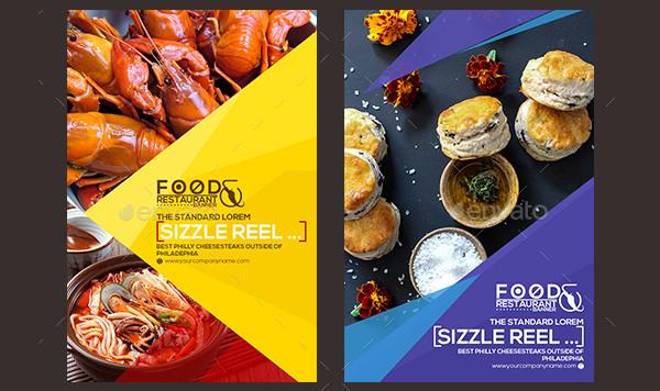 30 Pinterest Food & Restaurant Banner Designs