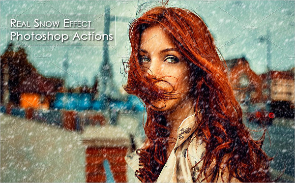 Real Snow Effect Photoshop Action