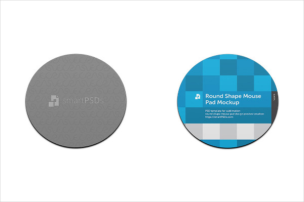 Round Mouse Pad Design Mock-Up
