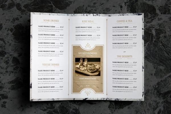 Rustic Food Menu Template for your Restaurant