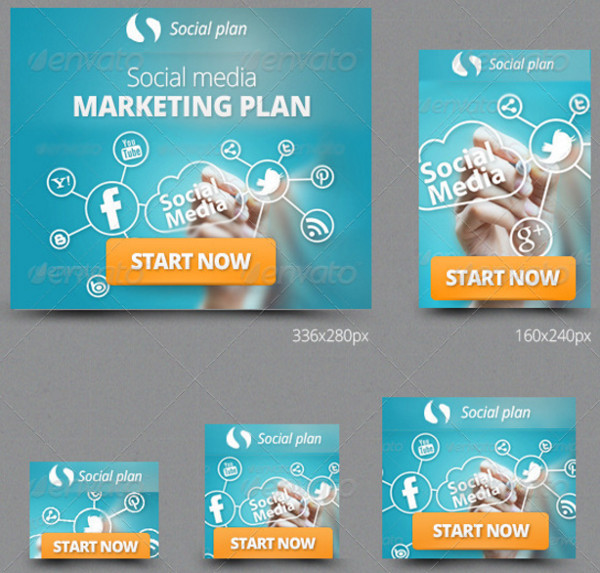 Corporate Web Banners Design Set