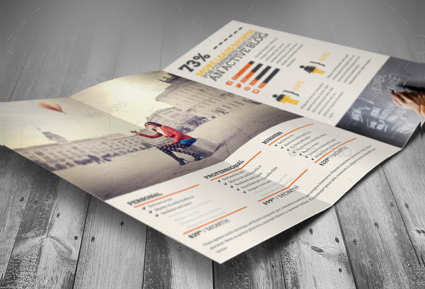 Social Media Marketing Tri-Fold Brochure