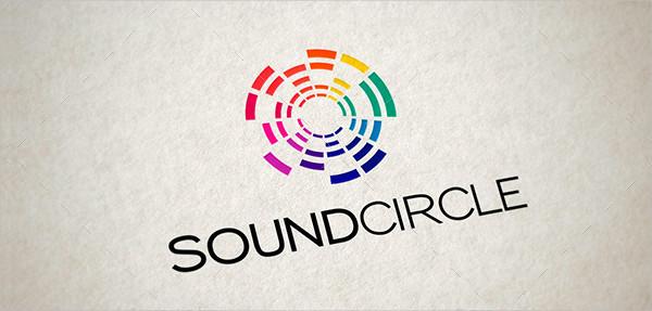 Music Sound Circle Logo Design