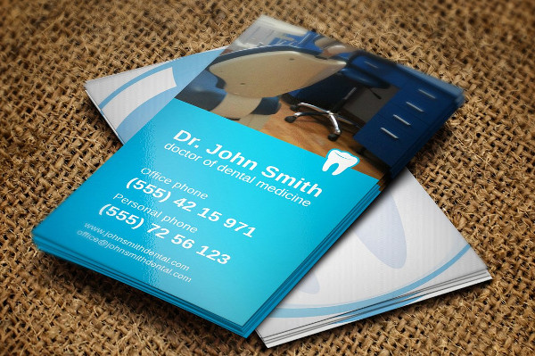 Popular Dentist Business Card Template