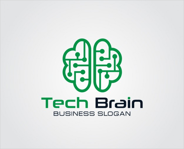 Technology Brain Logo Free Download
