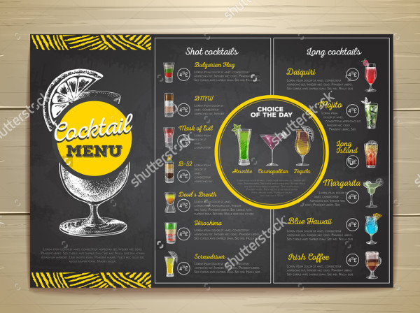 Best Cocktail Menu Template