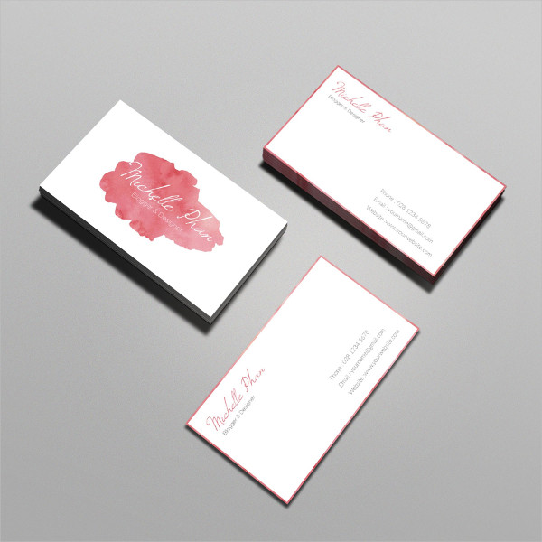 Professional Watercolor Business Card
