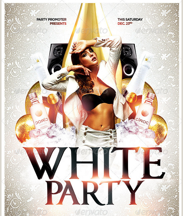 Deluxe White Party Promotion Flyer