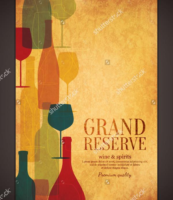 Wine Vector Design Brochure Templates