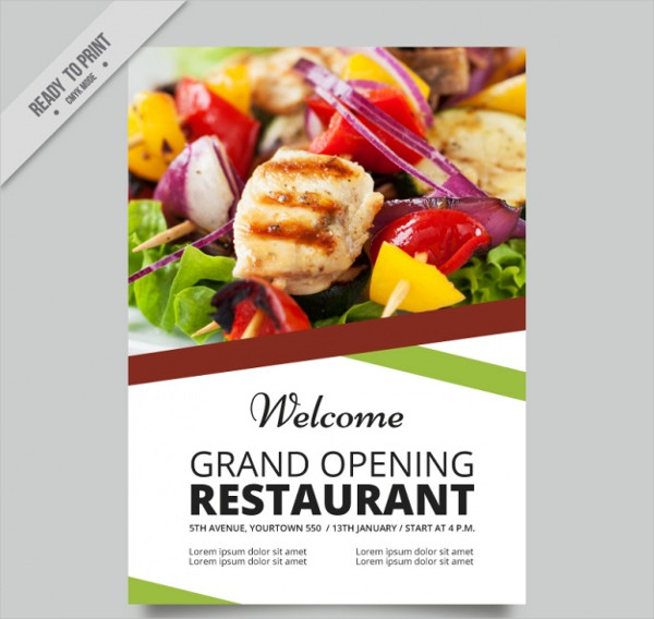 Abstract Restaurant Free Vector Brochure
