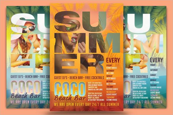 Coco Beach Bar Flyer