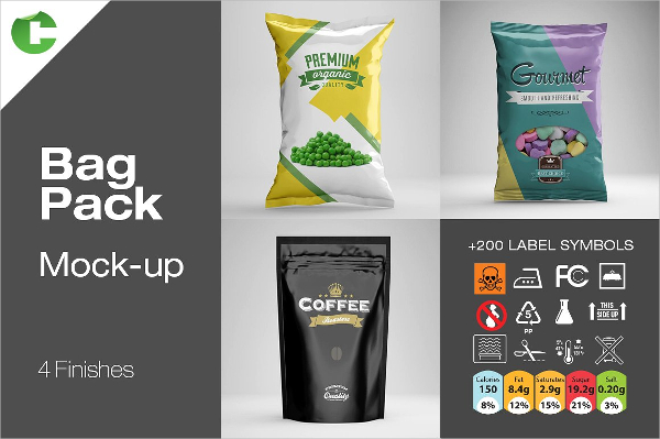 Cool Pouch Bag Mock-up