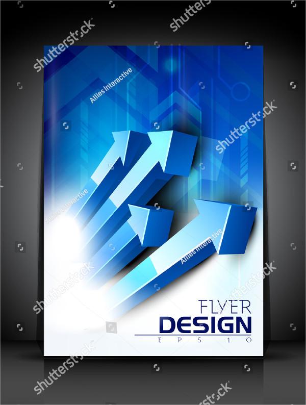 Professional 3D Flyer Template Design