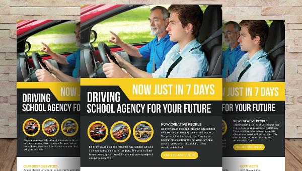 Driving School Flyer