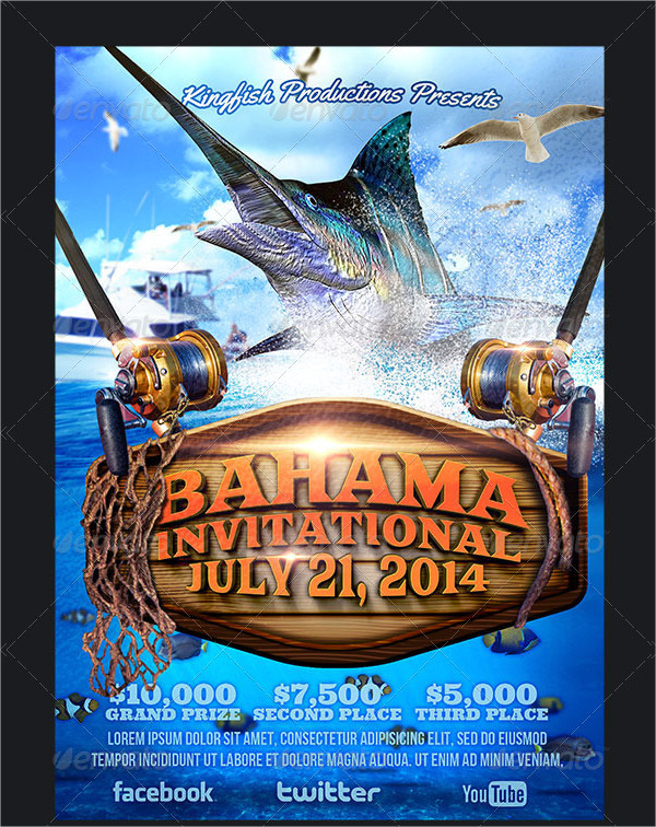 Editable Fishing Tournament Flyer Template