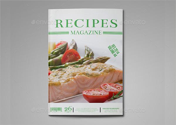 Food Recipes Magazine Templates