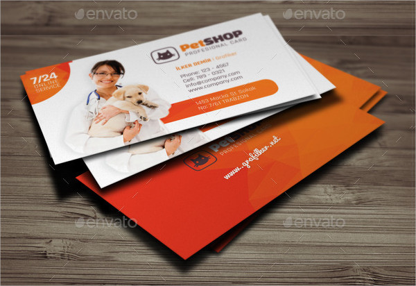 Cute Pet Shop Business Cards