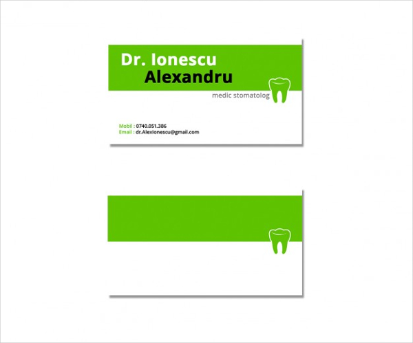 Free PSD Dentist Business Card Design