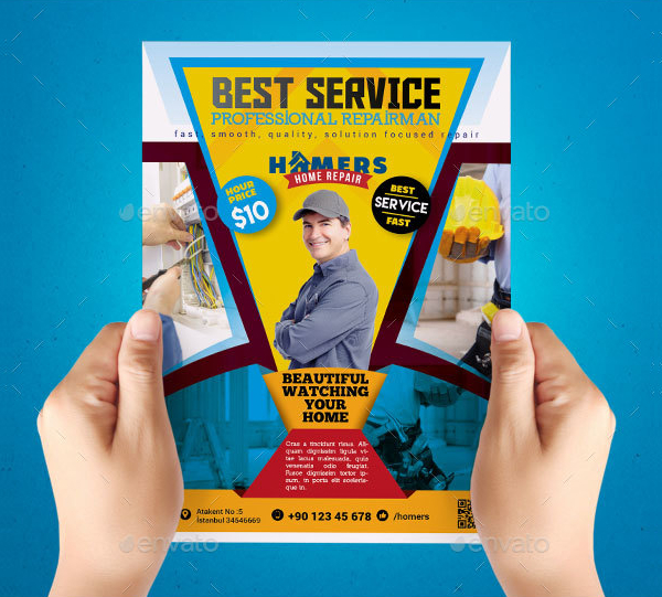Latest Home Repair Flyer Template