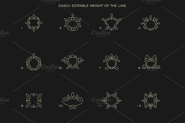 Minimalist Crest Logos Pack