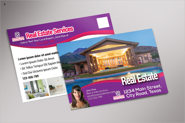 Modern Real Estate Postcard Templates