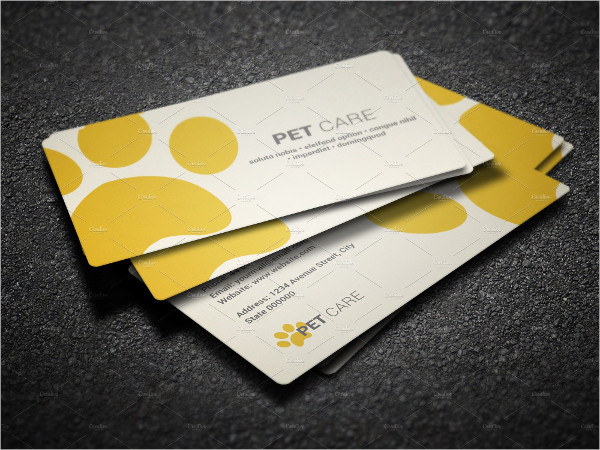 Pet Care Shop Business Card