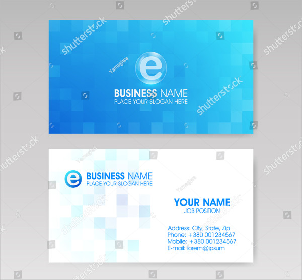 Vector Illustration Global Business Card