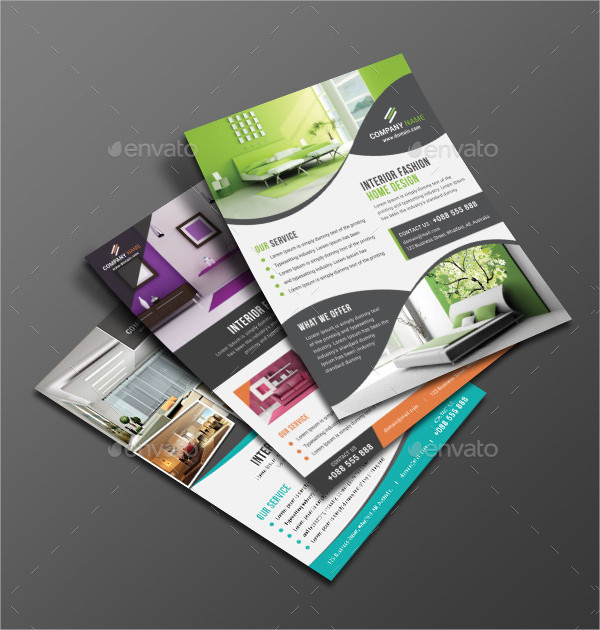 Fashion Interior Home Design Flyer Template
