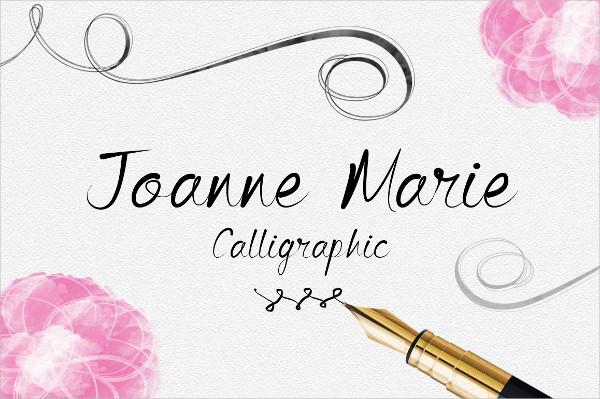 Popular Calligraphy Fonts