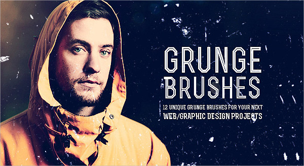 12 Unique Grunge Photoshop Brush Pack