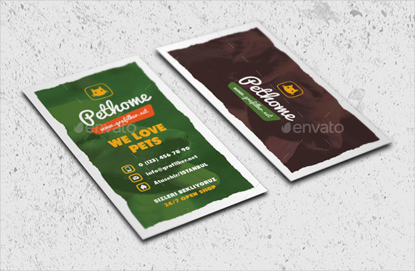 Professional Pet Shop Business Card Templates
