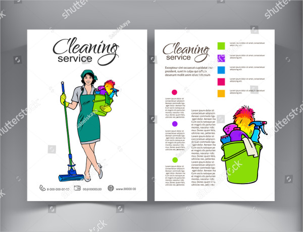 Attractive Cleaning Service Brochure