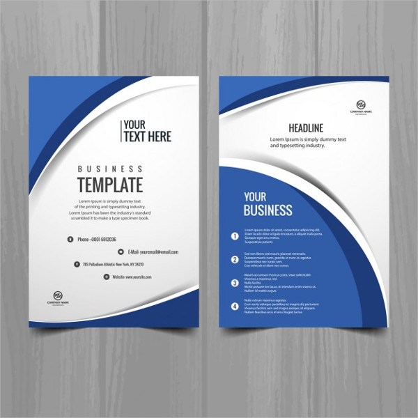 Blue Wavy Cool Brochure Template Free