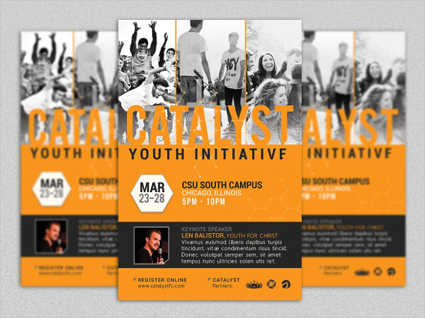 Catalyst Youth Summit Flyer Template