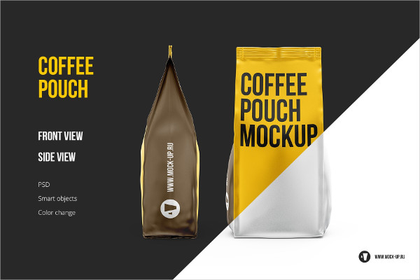 Coffee Pouch Front and Side Views