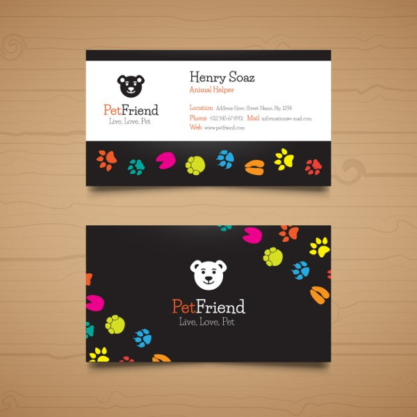 Cool Pet Business Card Free Download