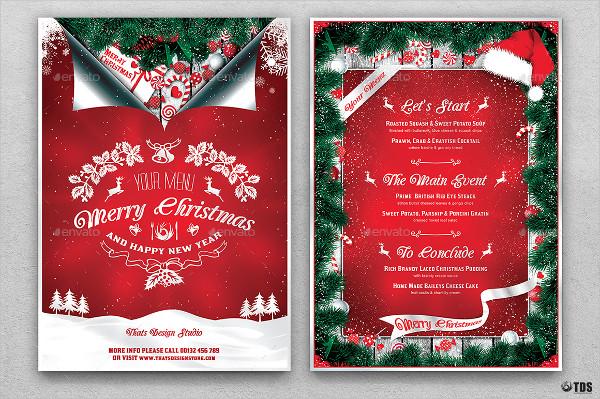Christmas Dinner Invitation Design