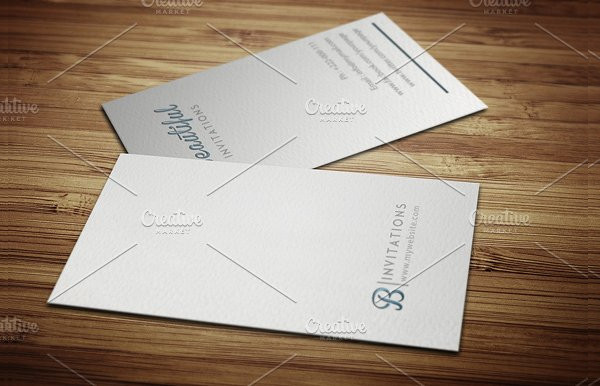 Fashion Letter Press Business Card Template