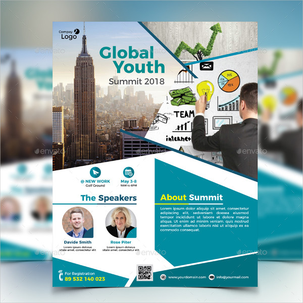 Global Youth Summit Flyer Template
