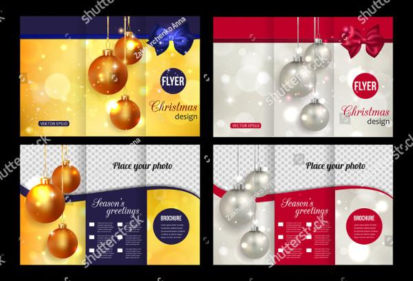 Marketing Christmas Trifold Brochure Templates