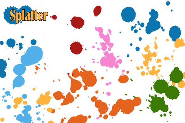 Free Abstract Splatter Photoshop Brushes