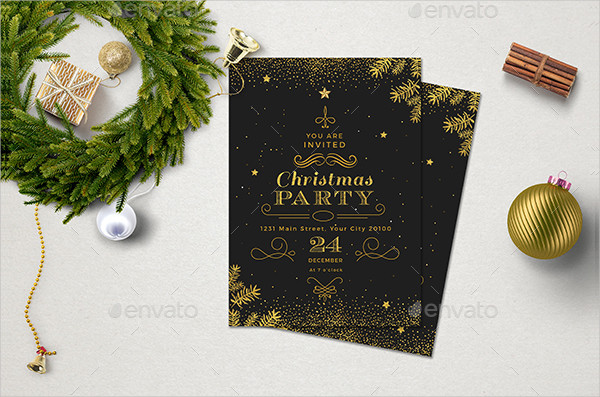 Minimal Christmas Invitations