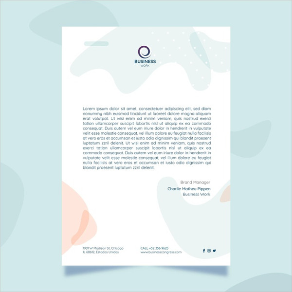 Minimalist Business Letter Template Free Download