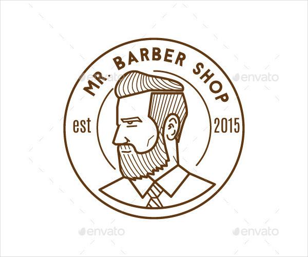 Mr. Barber Shop Logo Mascot